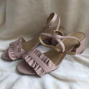 Michael Kors blush block heeled sandals 7